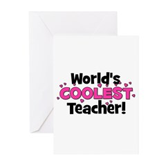 World's Coolest Teacher! Greeting Cards (Pk of 10