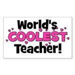 World's Coolest Teacher! Rectangle Sticker