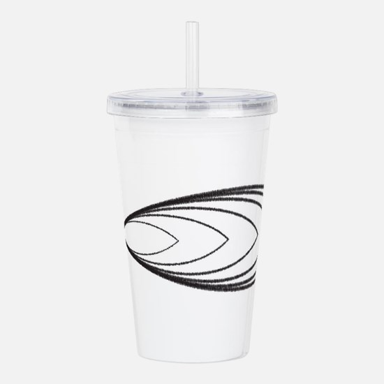 Christian Fish Scribbl Acrylic Double-wall Tumbler