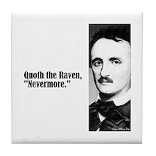 "Poe ""Nevermore"" Tile Coaster"