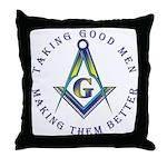 Taking Good Men Throw Pillow