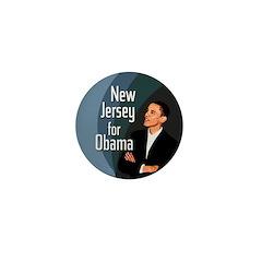 New Jersey small Barack Obama pin