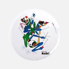 """Frogs Rock! 3.5"""" Button"""