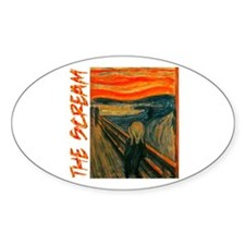 The Scream Oval Decal