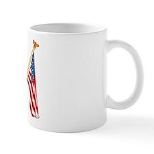 American Flags Pug Mug