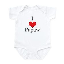 I Love (Heart) Papaw Infant Bodysuit