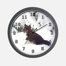 Winter Sheltie Wall Clock