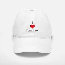 I Love (Heart) Paw Paw Baseball Baseball Cap