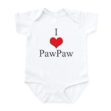I Love (Heart) Paw Paw Infant Bodysuit