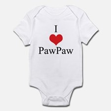 I Love (Heart) Paw Paw Infant Bodysuit