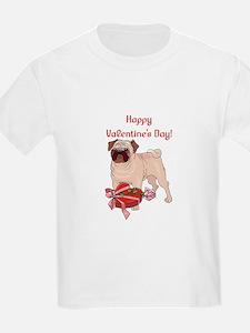 Happy Valentine's Day Pug T-Shirt