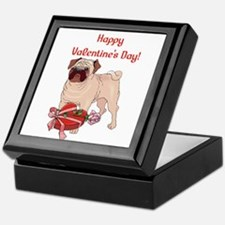 Happy Valentine's Day Pug Keepsake Box