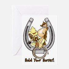 Hold your horse Greeting Card