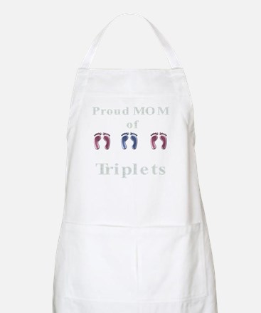 proud mom of triplets BBQ Apron