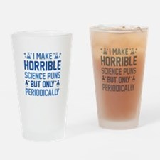 Science Puns Drinking Glass