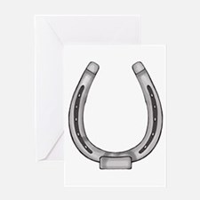 Lucky Horse Shoe Greeting Card