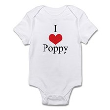 I Love (Heart) Poppy Baby Onesie
