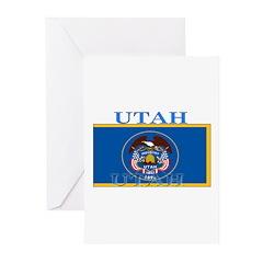 Utah State Flag Greeting Cards (Pk of 10)