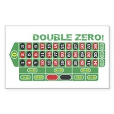 DOUBLE ZERO! Rectangle Decal