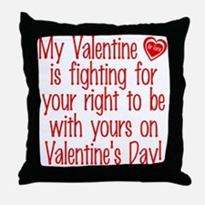 Valentine Fighting AF Throw Pillow