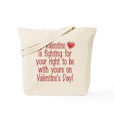 Valentine Fighting AF Tote Bag