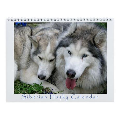 Siberian Husky 2008 Wall Calendar