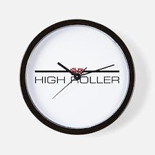 HIGH ROLLER Wall Clock