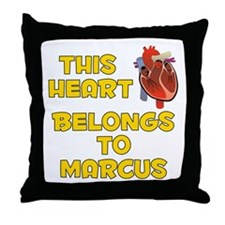 This Heart: Marcus (A) Throw Pillow