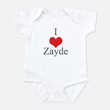 I Love (Heart) Zayde Infant Bodysuit
