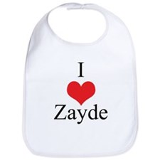 I Love (Heart) Zayde Bib