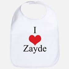 I Love (Heart) Zayde Bib