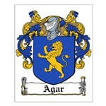 Agar Family Crest Small Poster