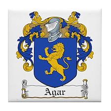 Agar Family Crest Tile Coaster