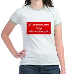 All-American Mom/Girl Jr. Ringer T-shirt