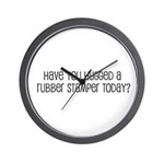 Have You Hugged a Rubber Stam Wall Clock