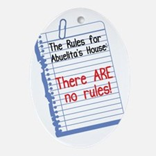 No Rules at Abuelita's House Oval Ornament