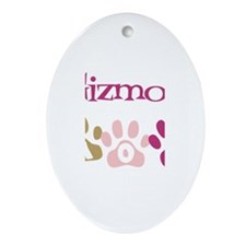 Gizmo's Mom Oval Ornament