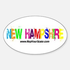 Colorful New Hampshire Oval Decal