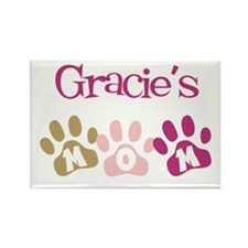Gracie's Mom Rectangle Magnet