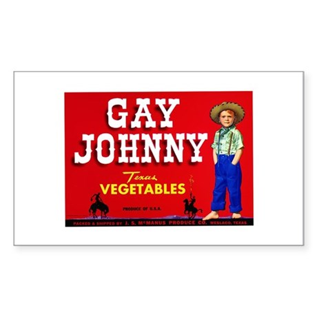 Gay Johnny Rectangle Sticker