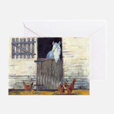 Stall Horse Greeting Card