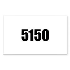 5150 - Danger to Self and Oth Sticker (Rectangular