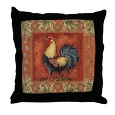 French Country Le Coq Rooster Throw Pillow
