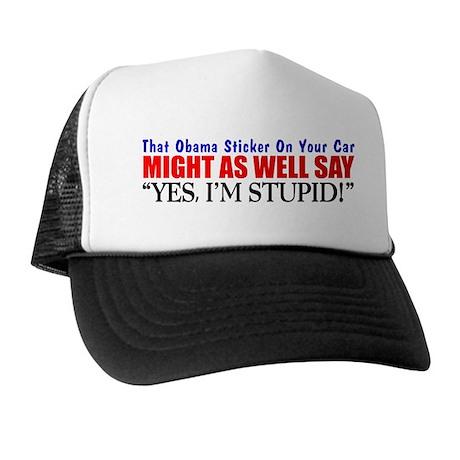"""""""That Obama Sticker"""" Trucker Hat"""