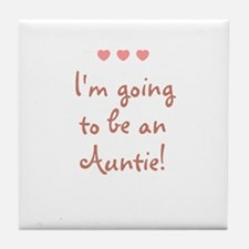 I'm going to be an Auntie! Tile Coaster