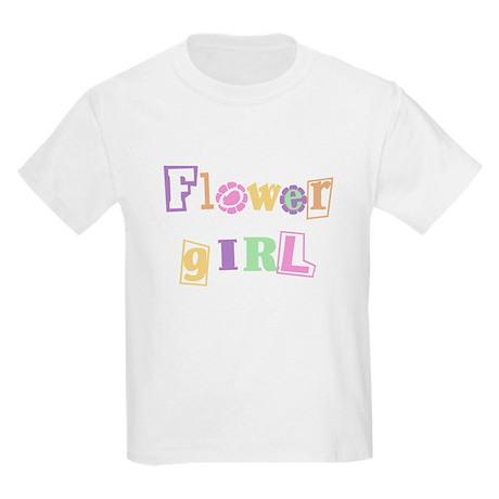 Flower Girl Cool Text Kids T-Shirt