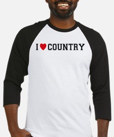 I Love Country Baseball Jersey
