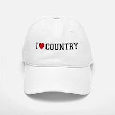 I Love Country Baseball Baseball Cap