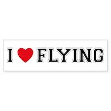 I Love Flying Bumper Bumper Sticker