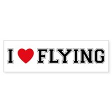 I Love Flying Bumper Car Sticker
